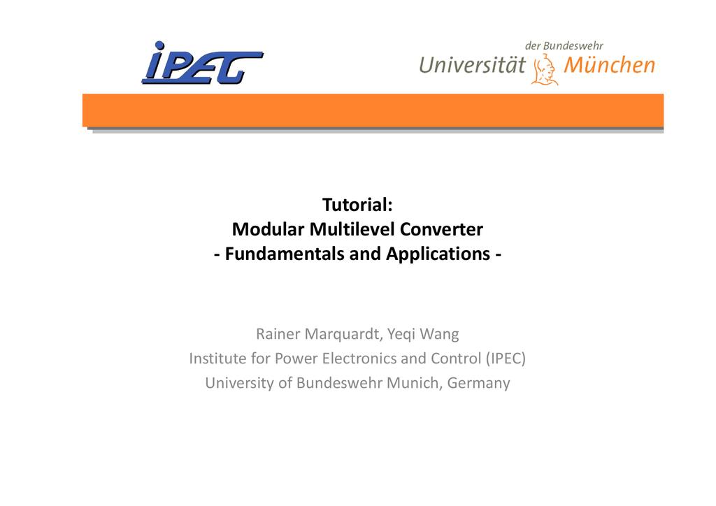 Tutorial: Modular Multilevel Converter
