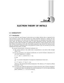 electron theory of metals