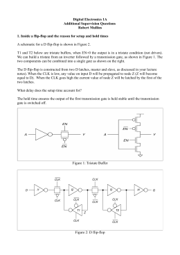 Digital Electronics 1A Additional Supervision Questions Robert