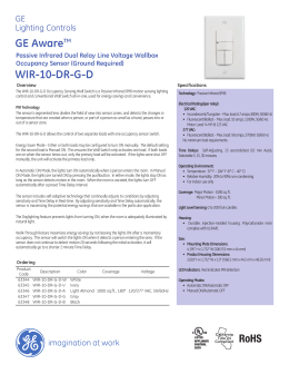 GE Controls | GE Aware™ Passive Infrared Dual Relay Line Voltage
