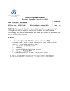 Emergency Procedures - Nova Southeastern University