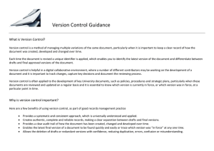 Version Control Guidance