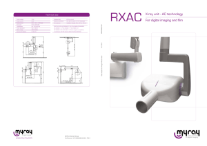 For digital imaging and film X-ray unit - AC technology