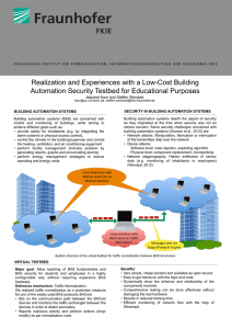 BUILDING AUTOMATION SYSTEMS SECURITY IN BUILDING