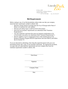 to bid requirements document