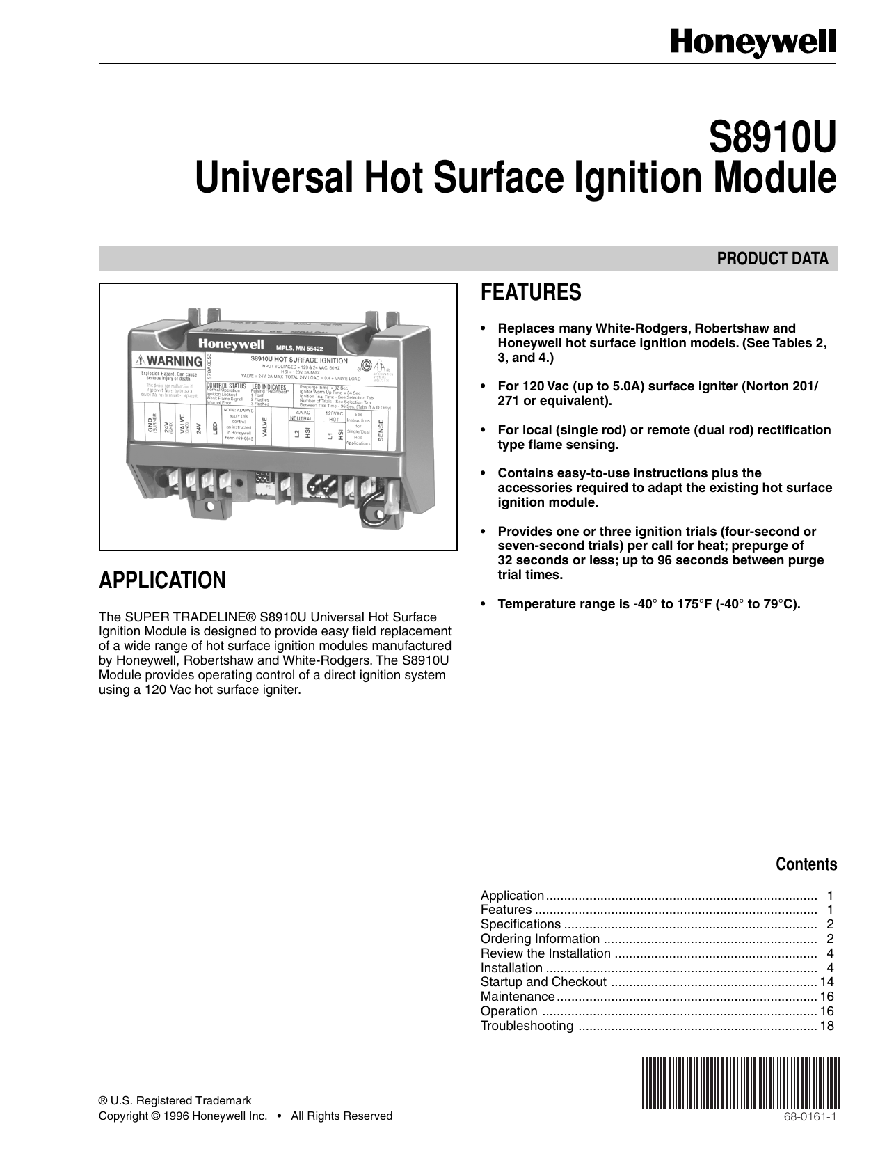 S8910u Universal Hot Surface Ignition Module Robertshaw Wiring Diagram 018051873 1 C9732b213cac466390a4d5be46b7bbe1