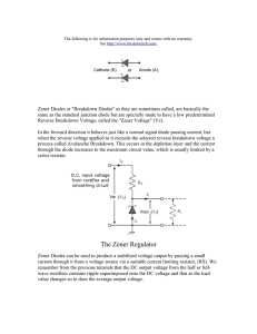 Fundamentals of Zener Diodes