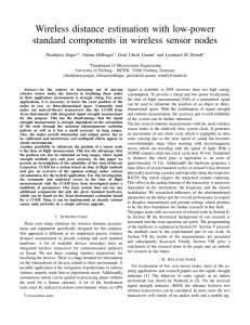 Wireless distance estimation with low-power standard