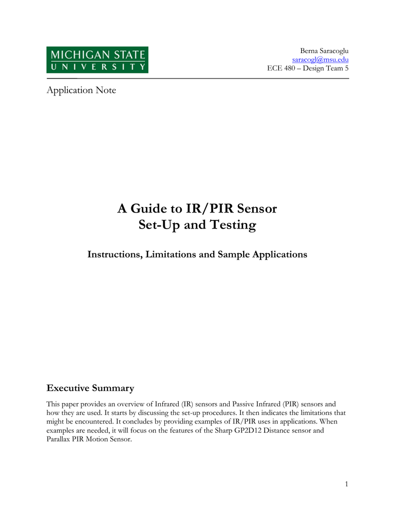 A Guide To Ir Pir Sensor Set Motion Sensors Circuit Using Integrated Pyroelectric