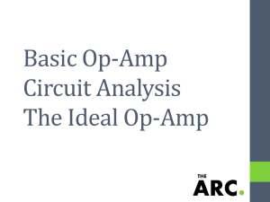 Basic Op-Amp Circuit Analysis The Ideal Op-Amp