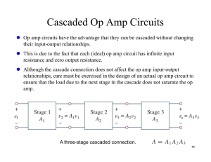 Cascaded Op Amp Circuits