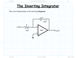The Inverting Integrator