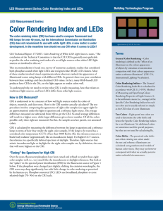 Color Rendering Index and LEDs