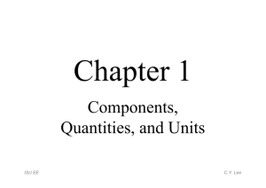 Chapter 1 - Components, Quantities and Units