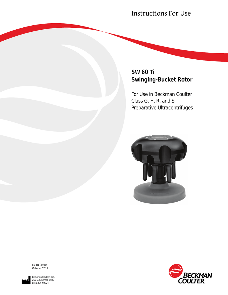 SW 60 Ti Rotor