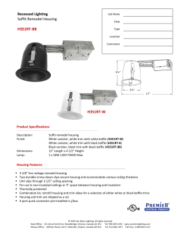 Recessed Lighting Soffit Remodel Housing H351RT-BB H351RT-W