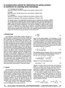 A nondestructive method for determining the spring constant of