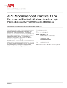 API Recommended Practice 1174