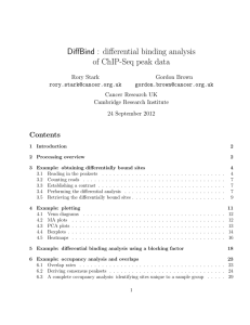 DiffBind : differential binding analysis of ChIP