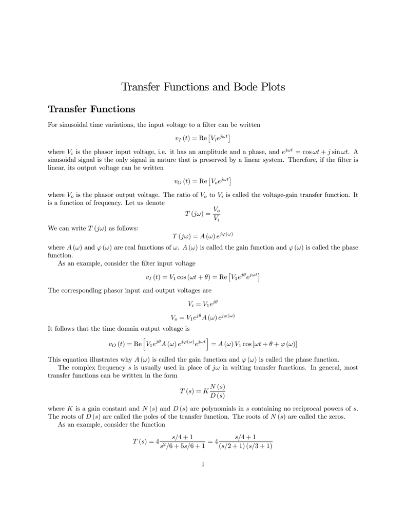 Transfer Functions And Bode Plots Rlc Circuit Function Through Differential Equation Band 018053969 1 63fa12b34ab941802447378ab64f8bd1