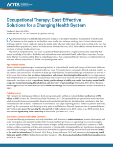 Occupational Therapy: Cost-Effective Solutions for a