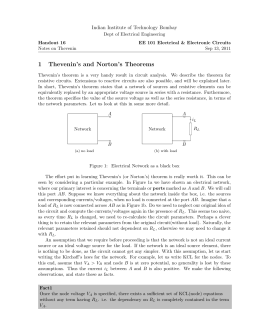 1 Thevenin`s and Norton`s Theorems