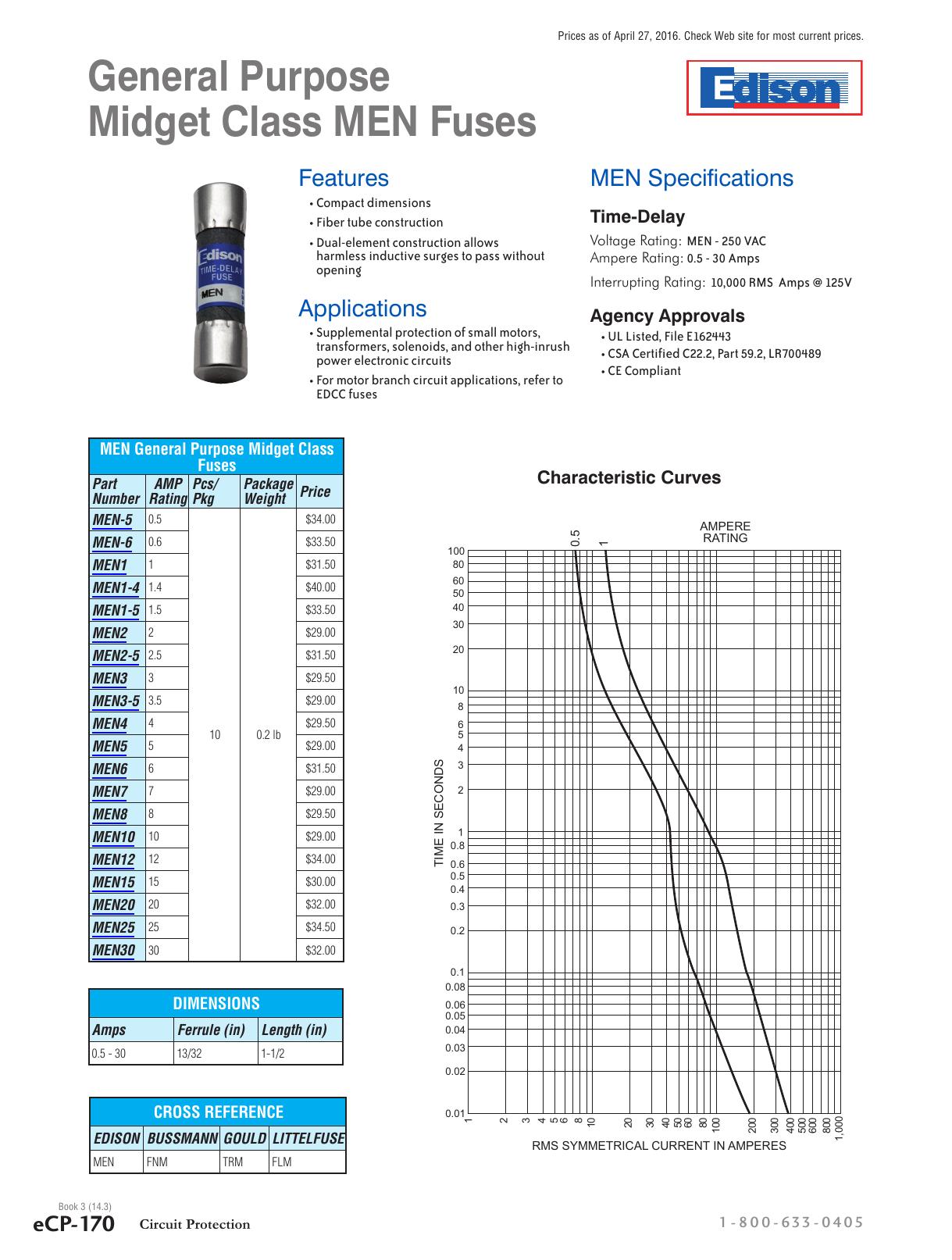 30 AMPS LITTELFUSE L60030C-1PQ Class CC Fuse Block with Pressure Plate Terminal 600VAC