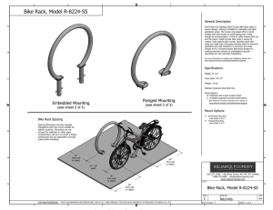 Bike Rack, Model R-8224-SS - Reliance Foundry Co. Ltd.