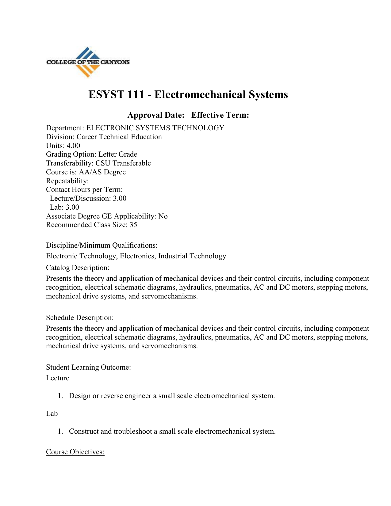 Esyst 111 Electromechanical Systems Ac Drive System Electric Schematic Diagram 018054761 1 75307ec5e16b9fe913a9228721c25132