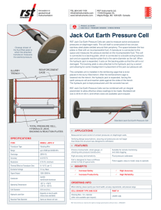 Jack Out Earth Pressure Cell
