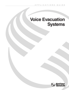 Voice Evacuation Systems