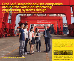 Prof Saif Benjaafar advises companies around the world on