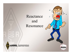 Reactance and Resonance