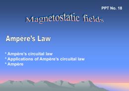 Ampère`s Circuital Law