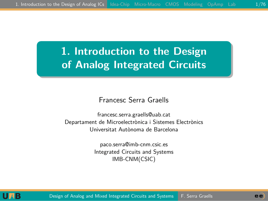 Circuits By Analog Integrated Circuits By Mixed Integrated Circuits By