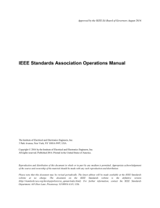 DRAFT IEEE Standards Association Operations Manual