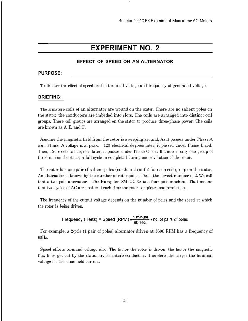 Experiment2 2 Pole Generator Stator Winding Diagram Wiring Schematic