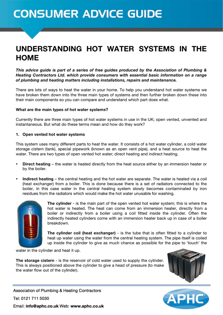 understanding hot water systems in the home