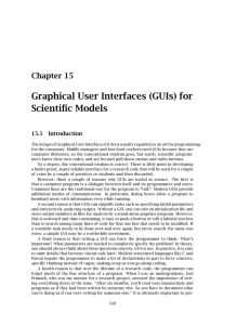 Graphical User Interfaces (GUIs) for Scientific Models