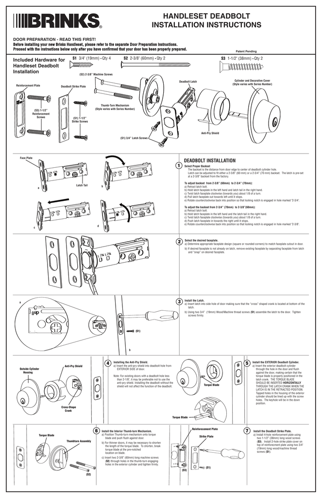 Brinks Digital Deadbolt Instructions Digital Photos And
