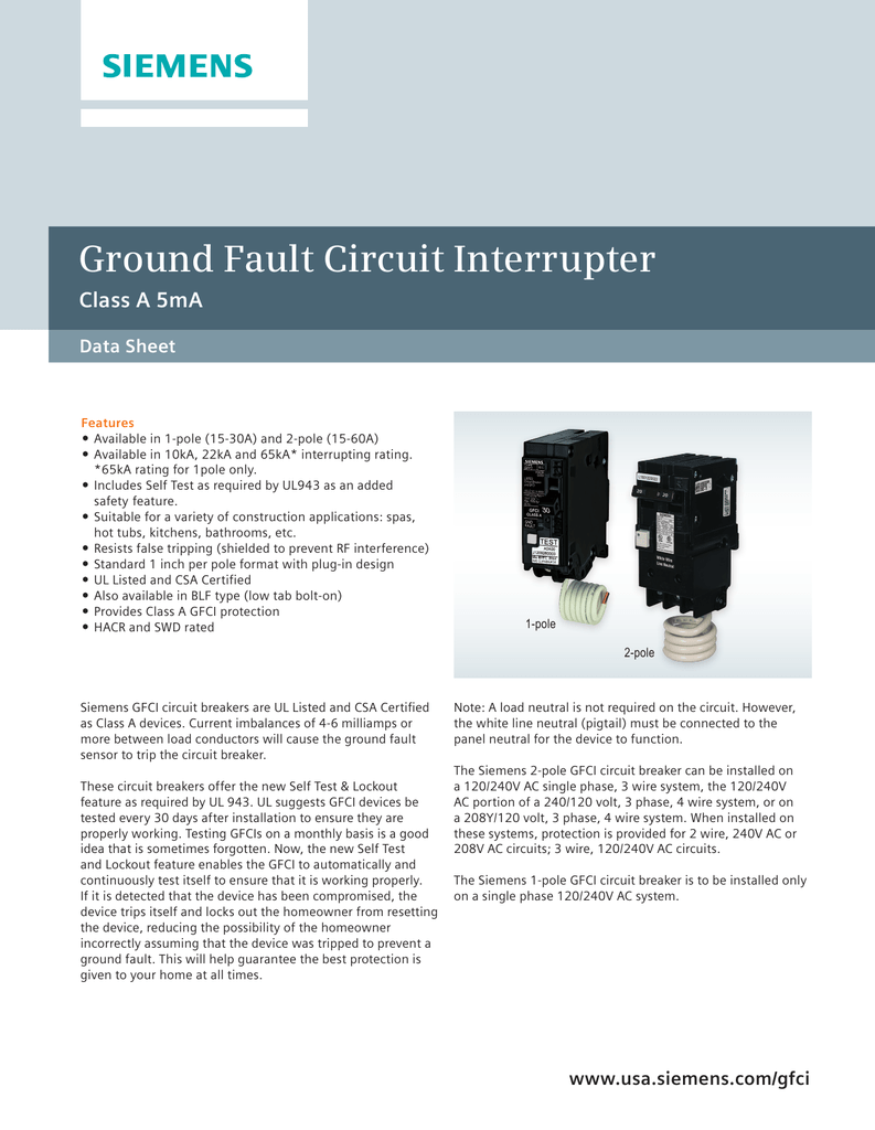 Ground Fault Circuit Interrupter Gfci Groundfault