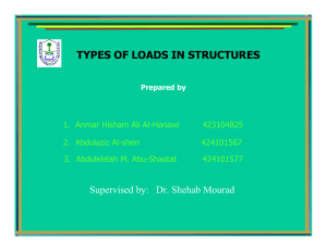 Types of loads - Home - KSU Faculty Member websites