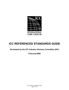 ICC Referenced Standards Guide