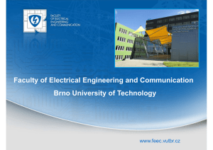 Faculty of Electrical Engineering and Communication Brno