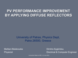 pv performance improvement by applying diffuse reflectors