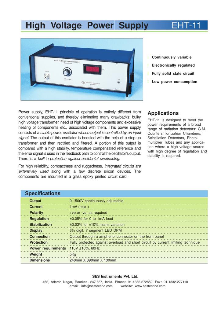 High Voltage Power Supply EHT-11
