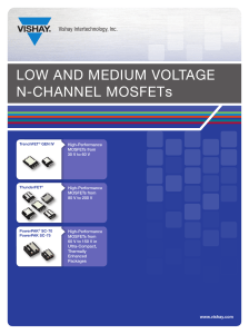 LOW AND MEDIUM VOLTAGE N-CHANNEL MOSFETs