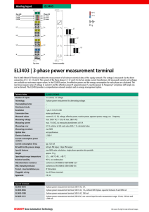 3-phase power measurement terminal
