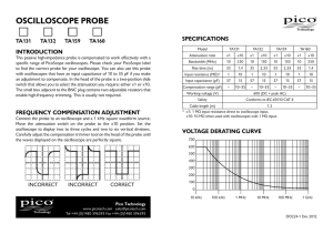 TA132 150 MHz Oscilloscope Probe User`s Guide