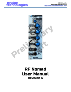RF Nomad User Manual